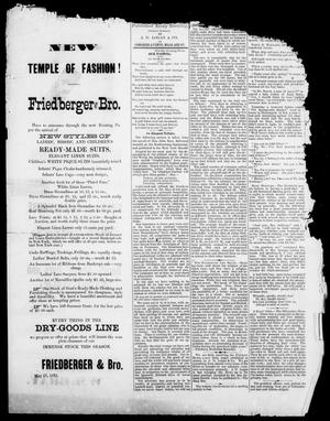 The Austin Evening News (Austin, Tex.), Vol. 1, No. 20, Ed. 1, Friday, June 2, 1875