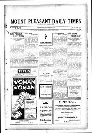Primary view of object titled 'Mount Pleasant Daily Times (Mount Pleasant, Tex.), Vol. 12, No. 34, Ed. 1 Wednesday, April 23, 1930'.