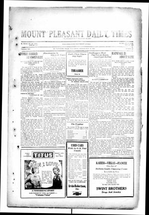 Primary view of object titled 'Mount Pleasant Daily Times (Mount Pleasant, Tex.), Vol. 10, No. 69, Ed. 1 Wednesday, May 29, 1929'.