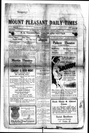 Primary view of object titled 'Mount Pleasant Daily Times (Mount Pleasant, Tex.), Vol. 8, No. 277, Ed. 1 Wednesday, February 2, 1927'.