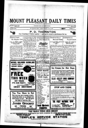 Primary view of object titled 'Mount Pleasant Daily Times (Mount Pleasant, Tex.), Vol. 8, No. 104, Ed. 1 Tuesday, July 6, 1926'.