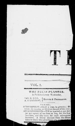 Primary view of object titled 'Texas Planter (Brazoria, Tex.), Vol. 2, No. 11, Ed. 1, Saturday, January 1, 1853'.