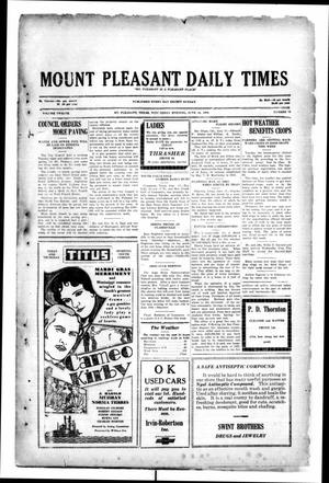 Primary view of object titled 'Mount Pleasant Daily Times (Mount Pleasant, Tex.), Vol. 12, No. 79, Ed. 1 Wednesday, June 18, 1930'.