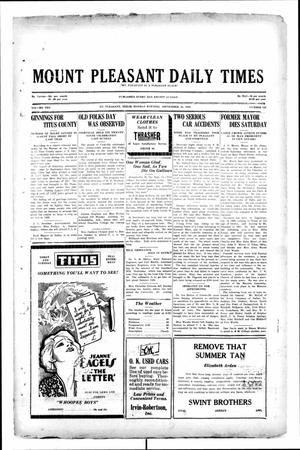 Primary view of object titled 'Mount Pleasant Daily Times (Mount Pleasant, Tex.), Vol. 10, No. 162, Ed. 1 Monday, September 16, 1929'.