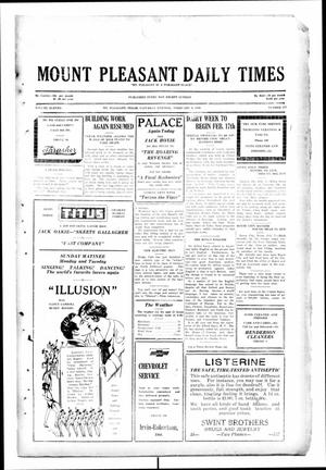 Primary view of object titled 'Mount Pleasant Daily Times (Mount Pleasant, Tex.), Vol. 11, No. 277, Ed. 1 Saturday, February 8, 1930'.