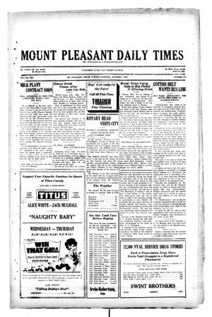 Primary view of object titled 'Mount Pleasant Daily Times (Mount Pleasant, Tex.), Vol. 10, No. 175, Ed. 1 Tuesday, October 1, 1929'.