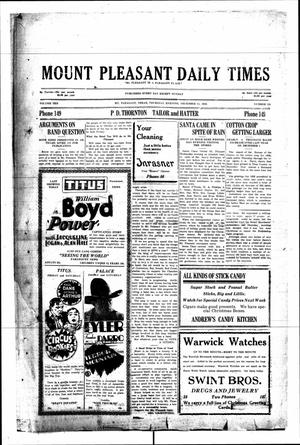 Primary view of object titled 'Mount Pleasant Daily Times (Mount Pleasant, Tex.), Vol. 10, No. 255, Ed. 1 Thursday, December 13, 1928'.
