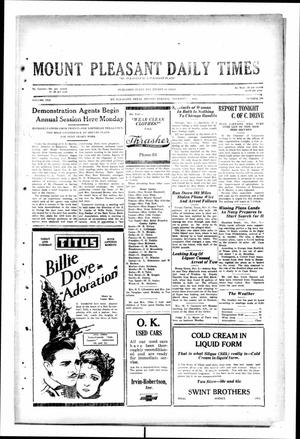 Primary view of object titled 'Mount Pleasant Daily Times (Mount Pleasant, Tex.), Vol. 10, No. 204, Ed. 1 Monday, November 4, 1929'.