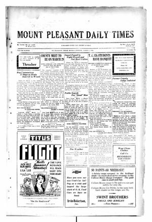 Primary view of object titled 'Mount Pleasant Daily Times (Mount Pleasant, Tex.), Vol. 11, No. 296, Ed. 1 Monday, March 3, 1930'.