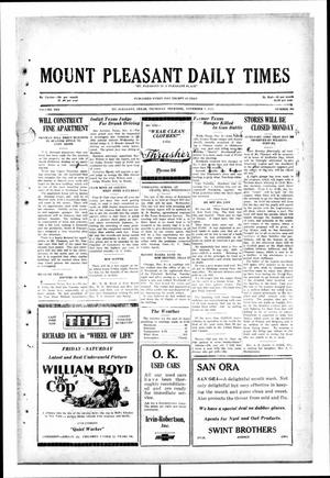 Primary view of object titled 'Mount Pleasant Daily Times (Mount Pleasant, Tex.), Vol. 10, No. 206, Ed. 1 Thursday, November 7, 1929'.