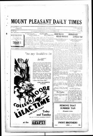 Primary view of object titled 'Mount Pleasant Daily Times (Mount Pleasant, Tex.), Vol. 10, No. 169, Ed. 1 Monday, September 23, 1929'.