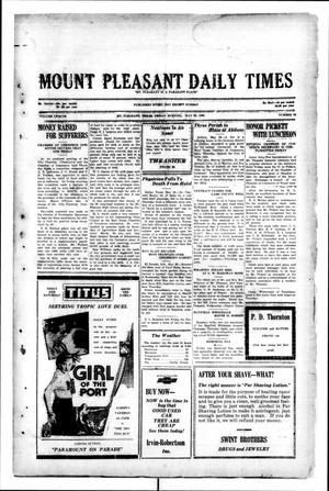 Primary view of object titled 'Mount Pleasant Daily Times (Mount Pleasant, Tex.), Vol. 12, No. 64, Ed. 1 Friday, May 30, 1930'.