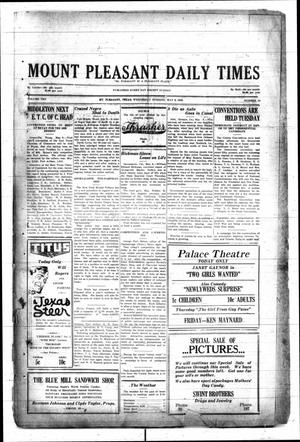 Primary view of object titled 'Mount Pleasant Daily Times (Mount Pleasant, Tex.), Vol. 10, No. 54, Ed. 1 Wednesday, May 9, 1928'.