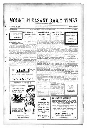 Primary view of object titled 'Mount Pleasant Daily Times (Mount Pleasant, Tex.), Vol. 11, No. 297, Ed. 1 Tuesday, March 4, 1930'.