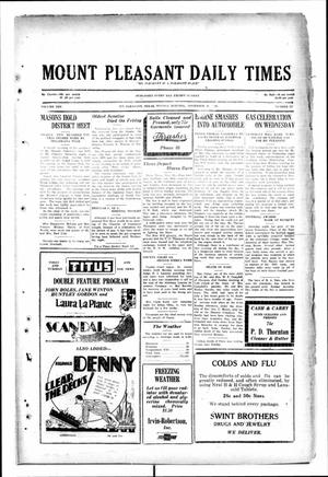 Primary view of object titled 'Mount Pleasant Daily Times (Mount Pleasant, Tex.), Vol. 10, No. 221, Ed. 1 Monday, November 25, 1929'.