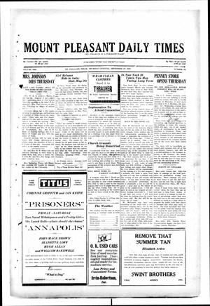 Primary view of object titled 'Mount Pleasant Daily Times (Mount Pleasant, Tex.), Vol. 10, No. 165, Ed. 1 Thursday, September 19, 1929'.