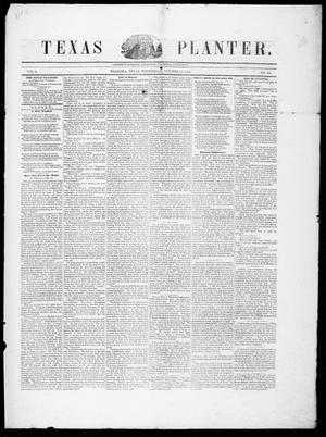 Primary view of object titled 'Texas Planter (Brazoria, Tex.), Vol. 3, No. 14, Ed. 1, Wednesday, October 18, 1854'.