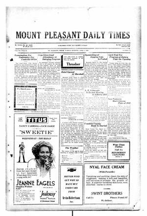 Primary view of object titled 'Mount Pleasant Daily Times (Mount Pleasant, Tex.), Vol. 12, No. 14, Ed. 1 Tuesday, April 1, 1930'.