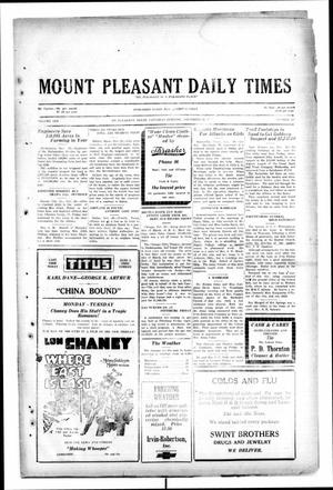 Primary view of object titled 'Mount Pleasant Daily Times (Mount Pleasant, Tex.), Vol. 10, No. 225, Ed. 1 Saturday, November 30, 1929'.