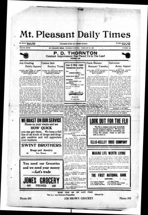 Primary view of object titled 'Mt. Pleasant Daily Times (Mount Pleasant, Tex.), Vol. 7, No. 290, Ed. 1 Thursday, February 25, 1926'.