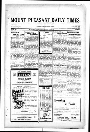 Primary view of object titled 'Mount Pleasant Daily Times (Mount Pleasant, Tex.), Vol. 10, No. 117, Ed. 1 Thursday, July 25, 1929'.