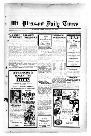 Primary view of object titled 'Mt. Pleasant Daily Times (Mount Pleasant, Tex.), Vol. 12, No. 263, Ed. 1 Saturday, January 31, 1931'.