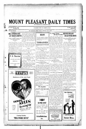 Primary view of object titled 'Mount Pleasant Daily Times (Mount Pleasant, Tex.), Vol. 12, No. 42, Ed. 1 Friday, May 2, 1930'.