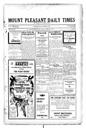 Primary view of object titled 'Mount Pleasant Daily Times (Mount Pleasant, Tex.), Vol. 11, No. 281, Ed. 1 Saturday, February 1, 1930'.