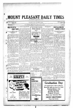 Primary view of object titled 'Mount Pleasant Daily Times (Mount Pleasant, Tex.), Vol. 10, No. 62, Ed. 1 Monday, May 20, 1929'.