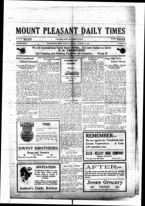 Primary view of object titled 'Mount Pleasant Daily Times (Mount Pleasant, Tex.), Vol. 8, No. 191, Ed. 1 Tuesday, October 19, 1926'.