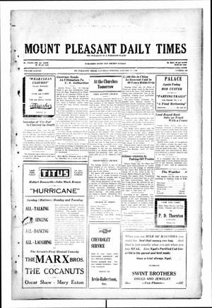 Primary view of object titled 'Mount Pleasant Daily Times (Mount Pleasant, Tex.), Vol. 11, No. 263, Ed. 1 Saturday, January 11, 1930'.