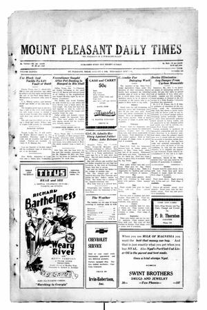 Primary view of object titled 'Mount Pleasant Daily Times (Mount Pleasant, Tex.), Vol. 11, No. 260, Ed. 1 Wednesday, January 8, 1930'.