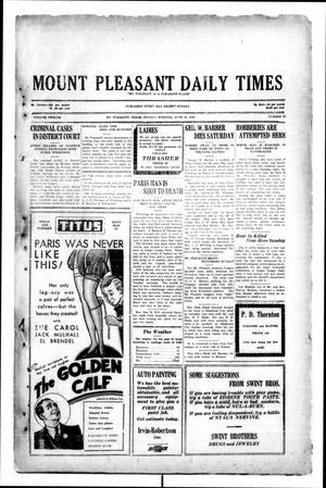 Primary view of object titled 'Mount Pleasant Daily Times (Mount Pleasant, Tex.), Vol. 12, No. 83, Ed. 1 Monday, June 23, 1930'.