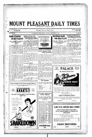 Primary view of object titled 'Mount Pleasant Daily Times (Mount Pleasant, Tex.), Vol. 10, No. 172, Ed. 1 Friday, September 27, 1929'.