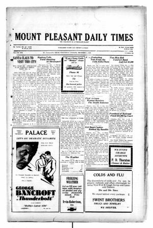 Primary view of object titled 'Mount Pleasant Daily Times (Mount Pleasant, Tex.), Vol. 10, No. 228, Ed. 1 Wednesday, December 4, 1929'.