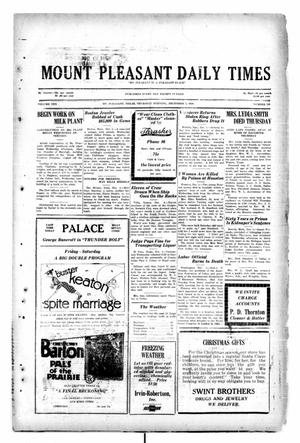 Primary view of object titled 'Mount Pleasant Daily Times (Mount Pleasant, Tex.), Vol. 10, No. 228, Ed. 1 Thursday, December 5, 1929'.