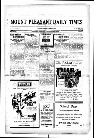 Primary view of object titled 'Mount Pleasant Daily Times (Mount Pleasant, Tex.), Vol. 10, No. 160, Ed. 1 Friday, September 13, 1929'.