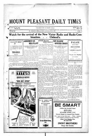 Primary view of object titled 'Mount Pleasant Daily Times (Mount Pleasant, Tex.), Vol. 10, No. 84, Ed. 1 Saturday, June 15, 1929'.