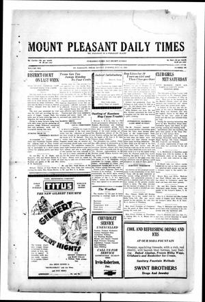 Primary view of object titled 'Mount Pleasant Daily Times (Mount Pleasant, Tex.), Vol. 10, No. 108, Ed. 1 Monday, July 15, 1929'.