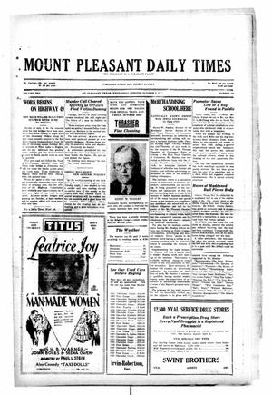 Primary view of object titled 'Mount Pleasant Daily Times (Mount Pleasant, Tex.), Vol. 10, No. 182, Ed. 1 Wednesday, October 9, 1929'.