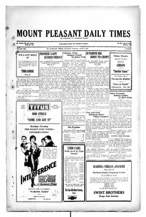 Primary view of object titled 'Mount Pleasant Daily Times (Mount Pleasant, Tex.), Vol. 10, No. 72, Ed. 1 Saturday, June 1, 1929'.