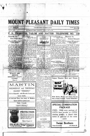 Primary view of object titled 'Mount Pleasant Daily Times (Mount Pleasant, Tex.), Vol. 9, No. 31, Ed. 1 Wednesday, April 13, 1927'.