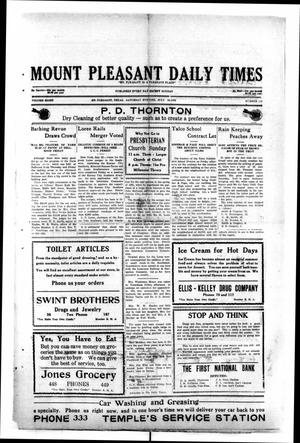 Primary view of object titled 'Mount Pleasant Daily Times (Mount Pleasant, Tex.), Vol. 8, No. 119, Ed. 1 Saturday, July 24, 1926'.