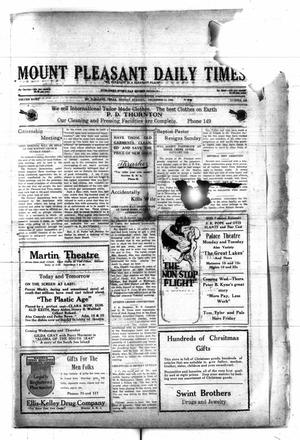 Primary view of object titled 'Mount Pleasant Daily Times (Mount Pleasant, Tex.), Vol. 8, No. 236, Ed. 1 Monday, December 13, 1926'.