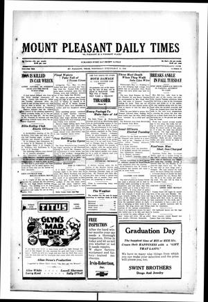 Primary view of object titled 'Mount Pleasant Daily Times (Mount Pleasant, Tex.), Vol. 10, No. 58, Ed. 1 Wednesday, May 15, 1929'.