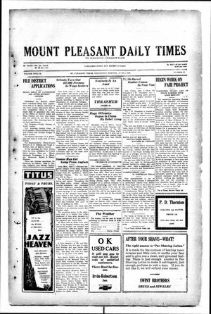 Primary view of object titled 'Mount Pleasant Daily Times (Mount Pleasant, Tex.), Vol. 12, No. 68, Ed. 1 Wednesday, June 4, 1930'.