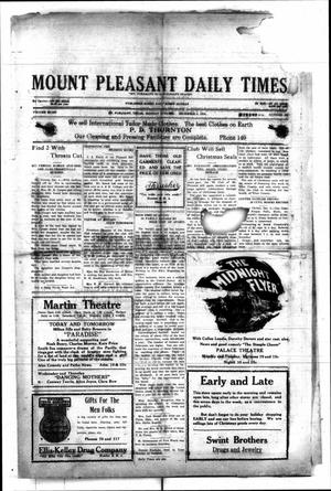 Primary view of object titled 'Mount Pleasant Daily Times (Mount Pleasant, Tex.), Vol. 8, No. 230, Ed. 1 Monday, December 6, 1926'.