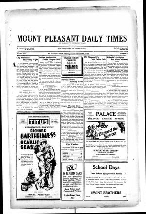 Primary view of object titled 'Mount Pleasant Daily Times (Mount Pleasant, Tex.), Vol. 10, No. 154, Ed. 1 Friday, September 6, 1929'.