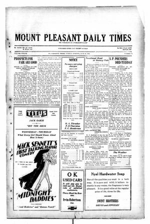 Primary view of object titled 'Mount Pleasant Daily Times (Mount Pleasant, Tex.), Vol. 12, No. 72, Ed. 1 Tuesday, June 10, 1930'.