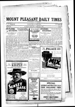 Primary view of object titled 'Mount Pleasant Daily Times (Mount Pleasant, Tex.), Vol. 10, No. 106, Ed. 1 Friday, July 12, 1929'.